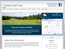 Tablet Preview of oakseygolfclub.co.uk